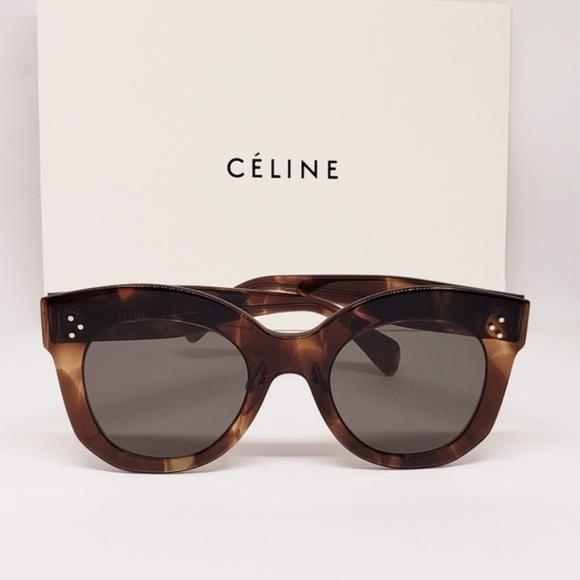 d773b76cbe Celine Sunglasses Thin Brown Havana frame